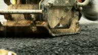 Making asphalt road