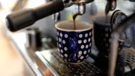 Making Coffee In Espresso Maker At Cafe
