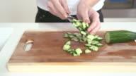 Making fresh salad