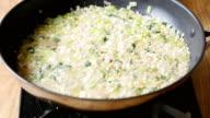 making leek asparagus risotto