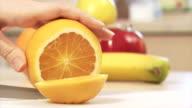 Making orange slices