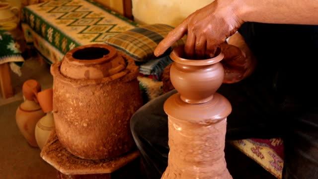 Making pottery art in Cappadocia