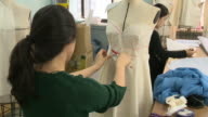 Making process of the women's clothing