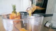 Making smoothie.