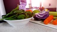 Making Vegetable Juice