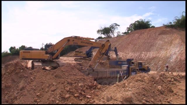 Malaysia gold mining on January 19 2012 in Raub Malaysia