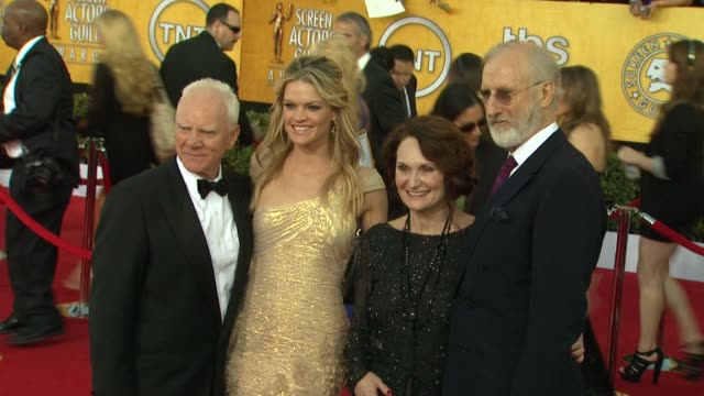 Malcolm McDowell Missi Pyle James Cromwell at 18th Annual Screen Actors Guild Awards Arrivals on 1/29/12 in Los Angeles CA