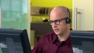 CU, PAN, Male customer service representative at work