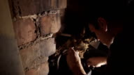 Male DIY Fixing A Water Tank In Attic