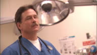 SLO MO, CU, SELECTIVE FOCUS, Male doctor in office, portrait