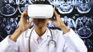 Male Doctor using Virtual reality, Healthcare And Medicine Concept