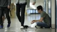 Maschio essere incalzati a scuola