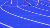 HD Male Sprinters at the Finish Line Slow Motion
