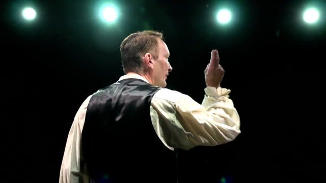Male Stage Actor Performing