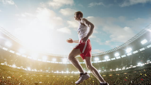 Male track and field runner