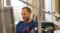 Male Working in Modern Office