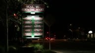 WS Malibu Country Mart sign / Malibu, California