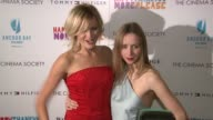 Malin Akerman and Zoe Kazan at the Premiere of 'happythankyoumoreplease' at New York NY