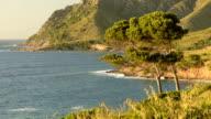 HD: Mallorca north shore at sunset