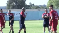 Malta players train ahead of England World Cup qualifier includes manager Pietro Ghedin and players Sam Magri Michael Mifsud Luke Gambin Andrei...