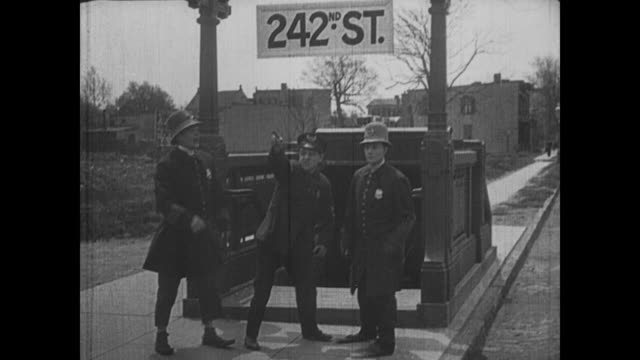 Buster Keaton and the chef, now cops, exit the subway at 242nd street and run to their destination