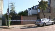 Man and woman charged with murder after badly burned body found in garden of house in Southfields EXT General views of property where Sabrina Kouider...