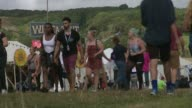 Man arrested after woman's body found at Bestival in Dorset 2016 Dorset Lulworth EXT Various shots Bestival music festival