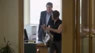 MS Man at desk dealing with customer, Bethlehem, Pennsylvania, USA