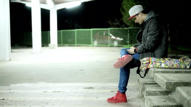 Man at the bus station