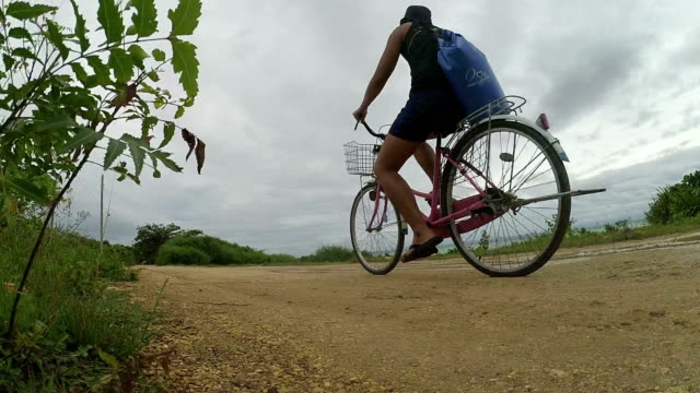 Man biking on the road