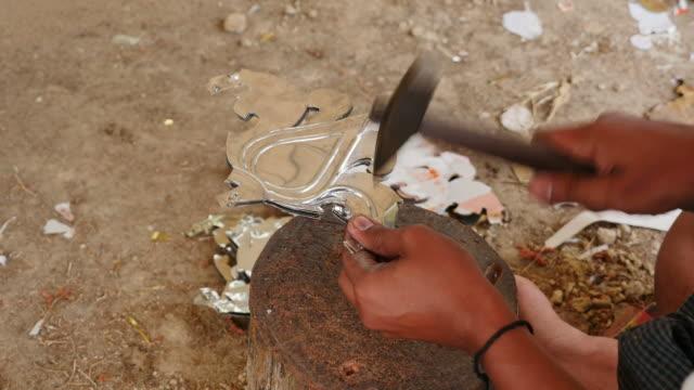 Man Carving Thai pattern.