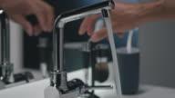 Man cleaning razor