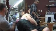 Man Getting Tattooed on June 29 2012 in Sacramento California