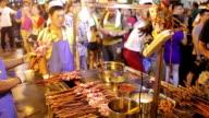 MS Man grilling shashlik at the market /Xi'an, Shaanxi, China