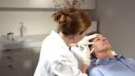 CU, DS, Man having Botox injections, Sydney, Australia