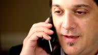 Man Having Conversation On Cell Phone