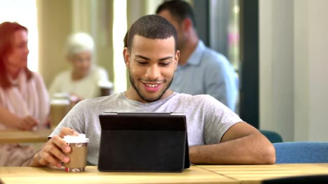 MS DS Man Having Video Call On Digital Tablet