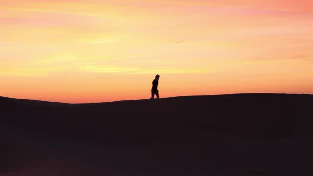 Man In the desert of Sahara