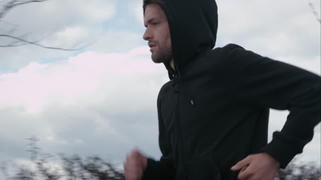 Man jogging outdoors