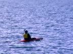 MS, TS, ZO, WS, Man kayaking, Lake Wanaka, Wanaka, New Zealand