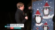 Man makes ultimate advent calendar for wife ENGLAND London Reporter to camera Ben Hewins LIVE interview SOT