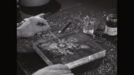 CU Man making design on Perspex / United States
