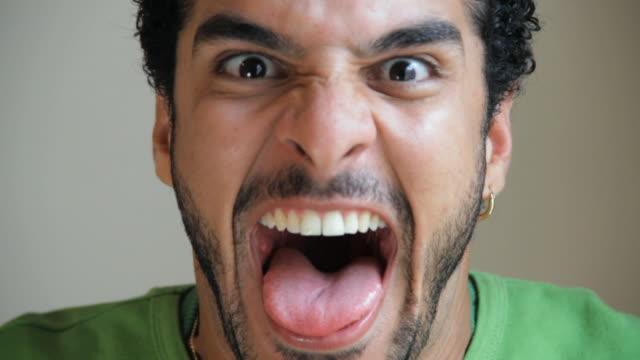 CU Man making funny faces / Havana, Cuba