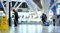Man mopping the floor at checkin counters at Cape Town International Airport Cape Town International Airport is located in Cape Town South Africa and...