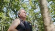TS Man on his run through forest