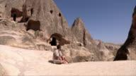 Man on the Chimney Rocks