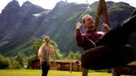 Man on the swing