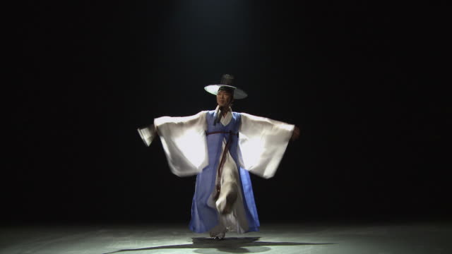 WS Man performing traditional dance 'Hanryangmu' / Seoul, South Korea