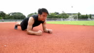 Man Planks Exercises in Track and field
