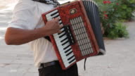 MH TU Man Playing Accordion in Street / Venice, Italy